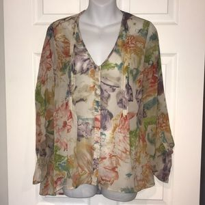 EUC pretty Pins & Needles Blouse